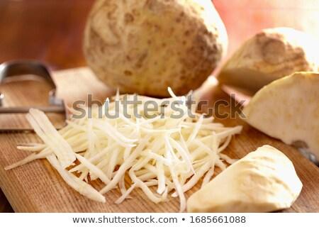 Selderij vers dieet kom vegetarisch keuken Stockfoto © M-studio