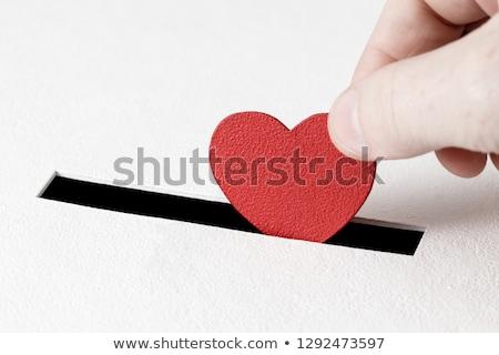 Doação caixa vermelho coração cuidar amor Foto stock © devon