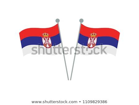 Político bandeira Sérvia mundo país Foto stock © perysty