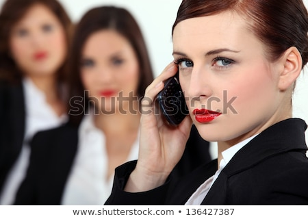 Pretentious woman talking on her mobile phone Stock photo © photography33