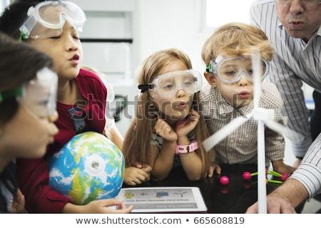 wetenschap · kinderen · klasse · kinderen · school · onderzoeken - stockfoto © lisafx