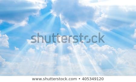 солнце Blue Sky облака за облаке Сток-фото © Kuzeytac