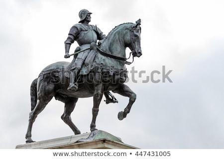 statue of bartolomeo colleoni in venice italy stock photo © frank11