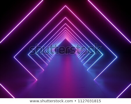 Elétron túnel futurista em linha reta corrida ciência Foto stock © Sniperz