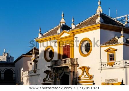 Fő- bejárat aréna Spanyolország város sport Stock fotó © neirfy
