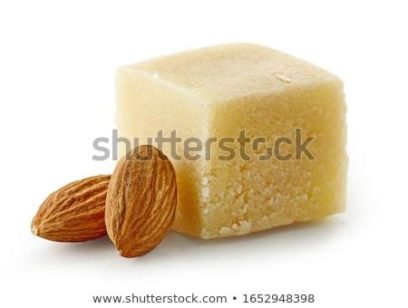 Marsepein typisch christmas dessert geïsoleerd witte Stockfoto © luiscar
