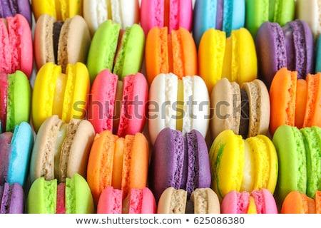 Gurme renkli çikolata arka plan lüks kurabiye Stok fotoğraf © M-studio