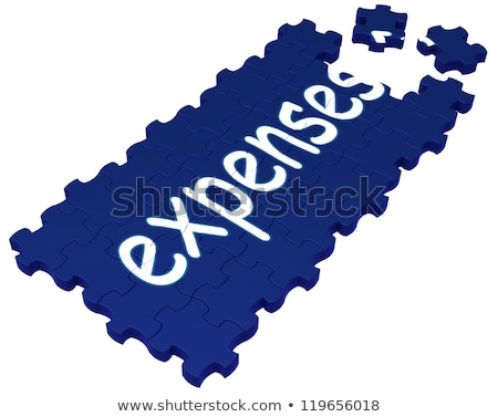 Expenses Puzzle Showing Invoices And Payment Stock photo © stuartmiles