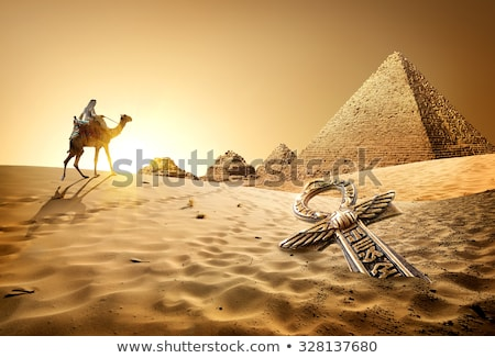 Old tombs at the sunset Stock photo © jakatics