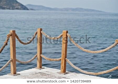 Dok morza wody ocean łodzi Zdjęcia stock © grivet