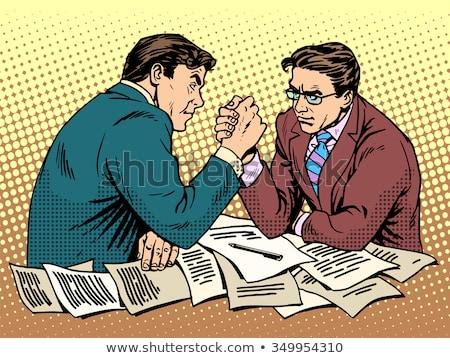 Two Businessmen Fighting Stock fotó © studiostoks