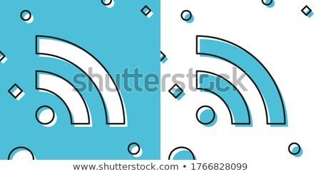 Rss woord digitale scherm abstract technologie Stockfoto © fotoscool