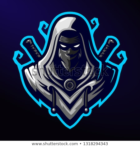 ninja · assassino · retrato · homem · arte · preto - foto stock © ronen