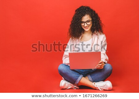 attractive young student woman stock photo © lithian