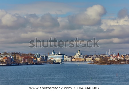 Ships on the waterfront in central Helsinki. Stock photo © maisicon