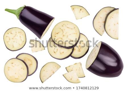 Eggplant and slices isolated on white background Stock photo © vaeenma