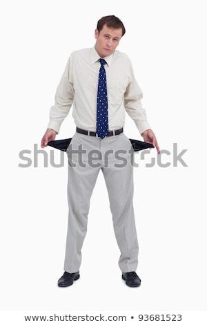 becsődölt · üzletember · fehér · póló · fekete · nadrág - stock fotó © wavebreak_media