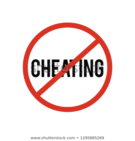 No cheating concept Stock photo © Ansonstock