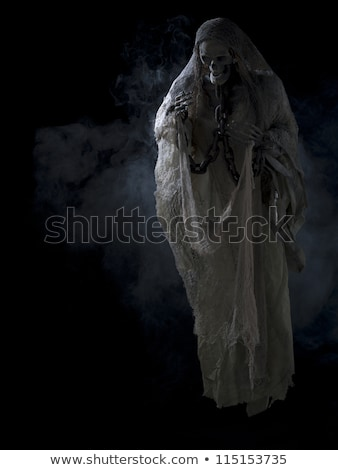 Skeleton Surrounded by Darkness Stock photo © AlienCat