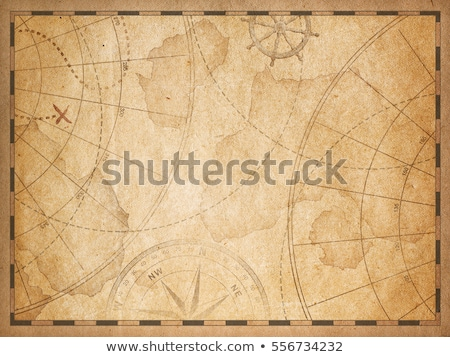 Pirata mappa del tesoro frame illustrazione piedi mappa Foto d'archivio © lenm