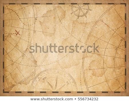 pirate treasure map frame stock photo © lenm