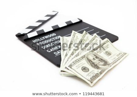 Geld witte film Films object fan Stockfoto © wavebreak_media