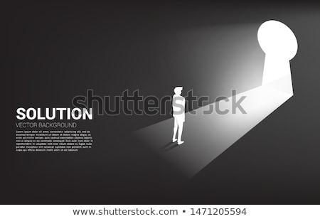 Stockfoto: Direction Key Hole