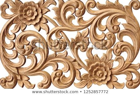 bianco · stucco · thai · stile · muro · texture - foto d'archivio © witthaya