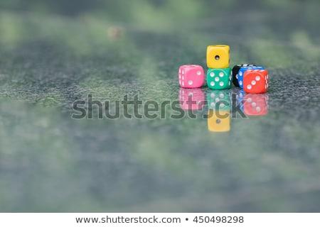 dés · Gamble · risque · bronze · réflexion - photo stock © tlorna