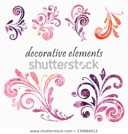 Grunge kwiatowy przejdź streszczenie malowany hot Zdjęcia stock © WaD