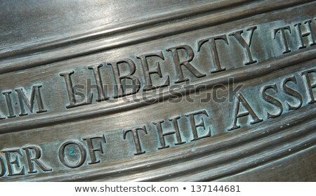 Closeup Of Lettering On The Liberty Bell Horizontal Stock fotó © pixelsnap