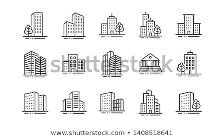 икона · город · здании · лес · фон - Сток-фото © zzve