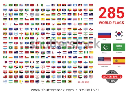Vector flag set of all American countries. Stock photo © Bytedust