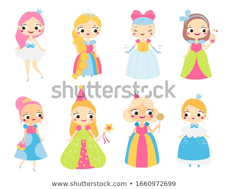 Fadas princesa voador crianças crianças Foto stock © mintymilk