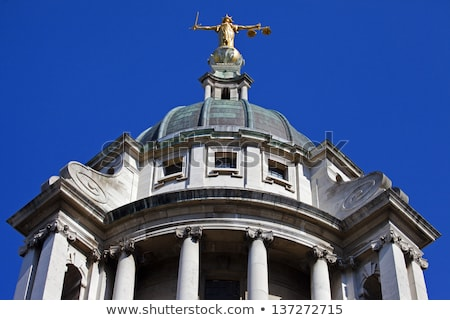 Lady Justice Statue ontop of the Old Bailey in London Stock photo © chrisdorney