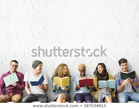 friends with book Stock photo © Paha_L