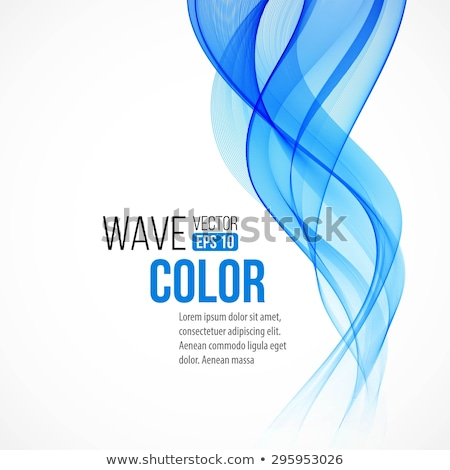Abstract blue wave or smoke texture. EPS 10 Stock photo © beholdereye