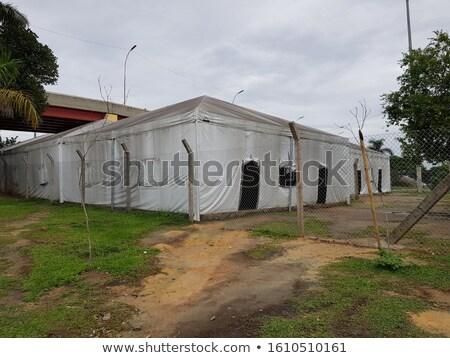 Abrigo bambu agricultores tenda vara Foto stock © rhamm
