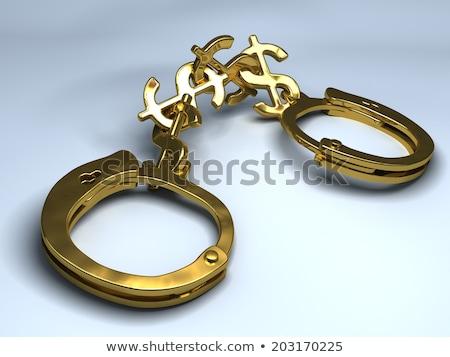 Dorado esposas aislado blanco fondo ley Foto stock © dzejmsdin