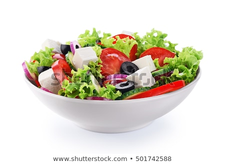 新鮮な · ギリシャ語 · サラダ · オーガニック · 材料 · 緑 - ストックフォト © haraldmuc