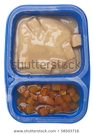 Turkey with Gravy and Carrots TV Dinner Stock photo © brookefuller