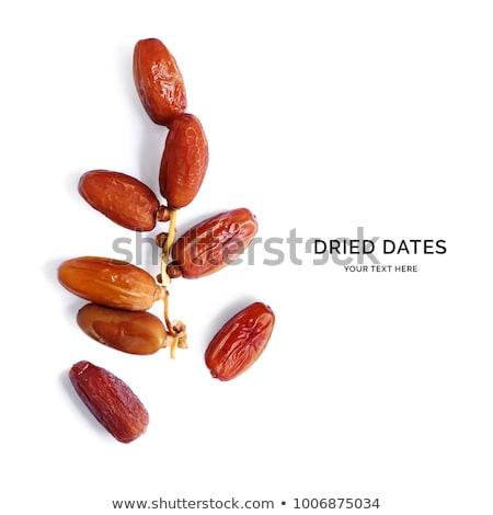 randevú · gyümölcs · édes · desszert · hozzávaló · pálmafa - stock fotó © Livingwild