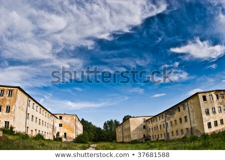 заброшенный форт черно белые архитектура парка армии Сток-фото © wolterk