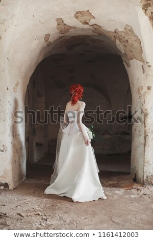 Victorian Young Woman Redhead Ghost Stock photo © rcarner