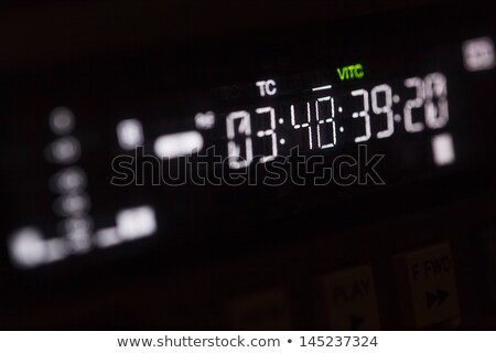 Macro shot-display of the broadcast video recorder Stock photo © d13