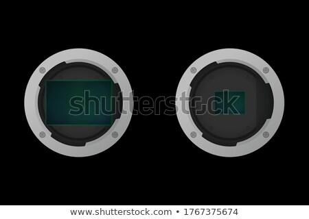 Digitális full frame kamera lencse izolált fehér Stock fotó © Hochwander