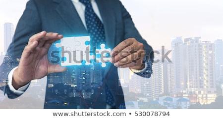 Megoldás üzlet három nyilak központ piros Stock fotó © tashatuvango