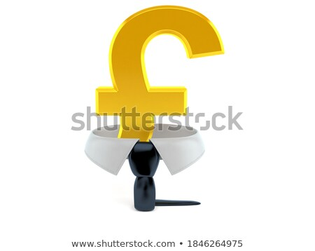 3D zakenman pond valuta symbool geïsoleerd Stockfoto © Kirill_M