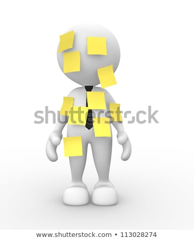 3d person with sticky note stock photo © kirill_m
