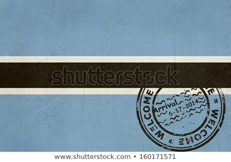 Welcome to Botswana flag with passport stamp Stock photo © speedfighter